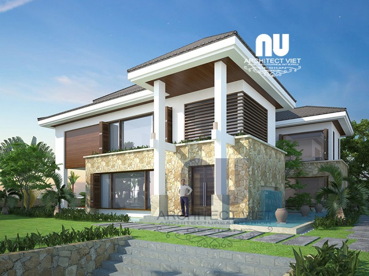 Mẫu biệt thự 3 tầng đẹp 350m2 sân vườn Khu Đô Thị Việt Hưng