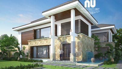 Mẫu biệt thự 3 tầng đẹp 350m2 sân vườn bể bơi KDT Việt Hưng