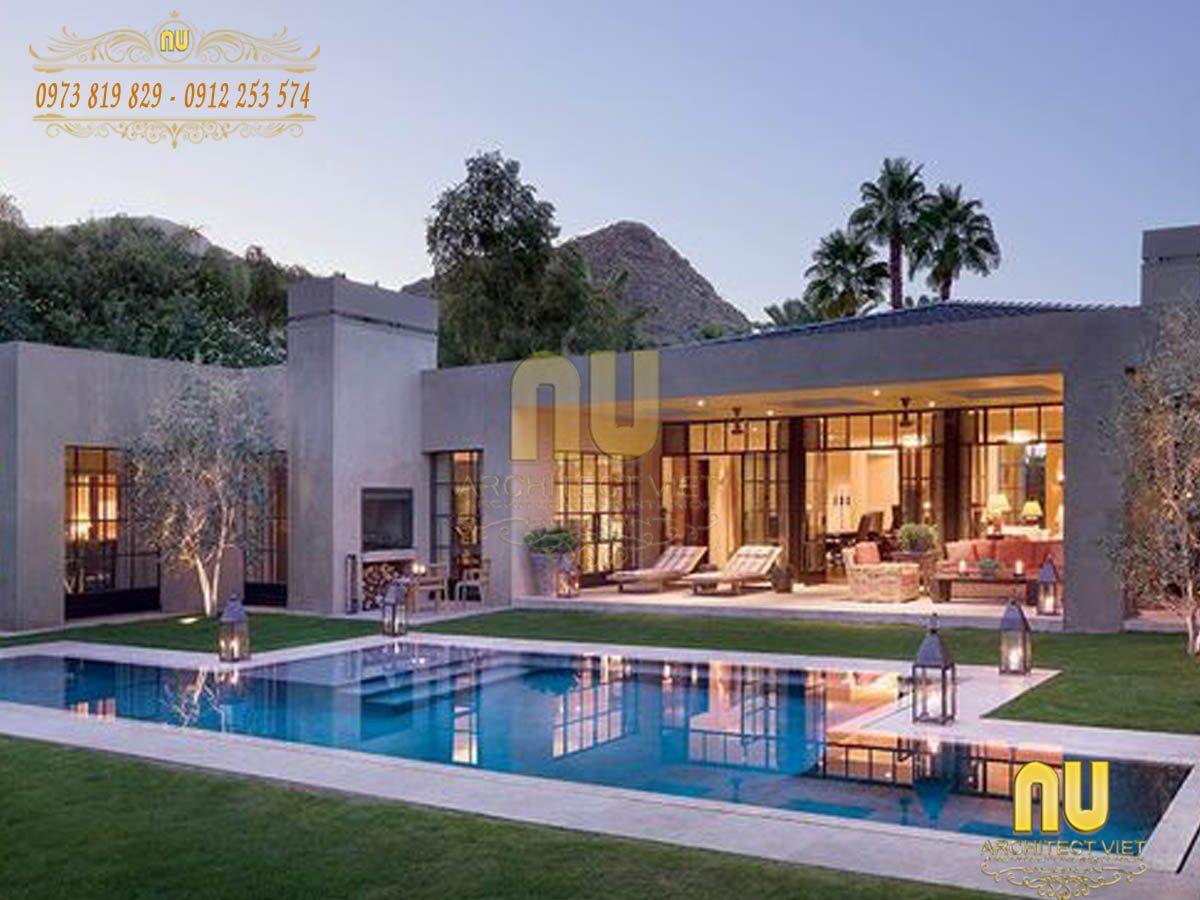 20 Mẫu thiết kế biệt thự có hồ bơi ngoài trời Đẹp – Sang chảnh