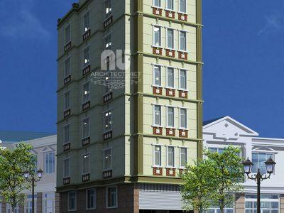 Mẫu nhà nghỉ mini 6 tầng 95m2 32 phòng nghỉ  tại Đại Kim