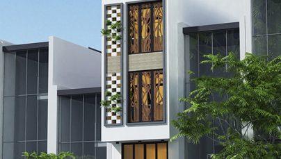 Mẫu nhà ống 3 tầng có gara ô tô – Thiết kế nhà đẹp
