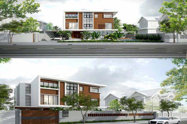 Khám phá vẻ đẹp mĩ miều của mẫu nhà phố 3 tầng mặt tiền 15m hiện đại