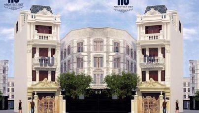 Mẫu nhà phố 4 tầng 75m2 tân cổ điển mê hoặc người nhìn ở Bắc Ninh