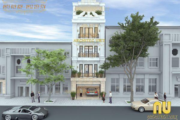 Giới thiệu mẫu nhà phố 5 tầng tân cổ điển 70m2 sang trọng ở Hà Nội
