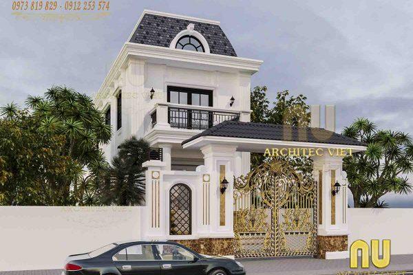 Mẫu thiết kế nhà 2 tầng đẹp tân cổ điển được yêu thích nhất hiện nay