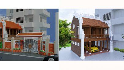 Mẫu thiết kế nhà thờ họ, từ đường đẹp tại Giáp Bát