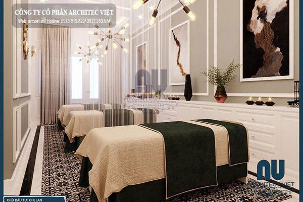Hình ảnh diễm lệ, khác biệt từ mẫu thiết kế nội thất Spa – GĐ chị Lan