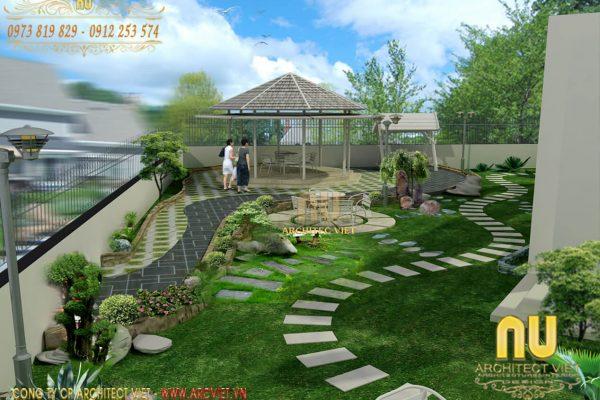 Thiết kế cảnh quan sân vườn và 4 nguyên tắc không thể bỏ qua