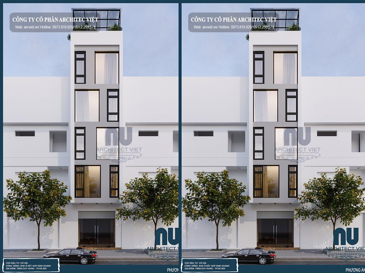 Nhà ở kết hợp kinh doanh 5 tầng mặt tiền 4m