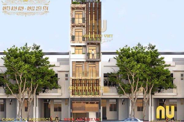 Mê mẩn với mẫu nhà liền kề 6 tầng mặt tiền 6m sang trọng tại Hà Nội