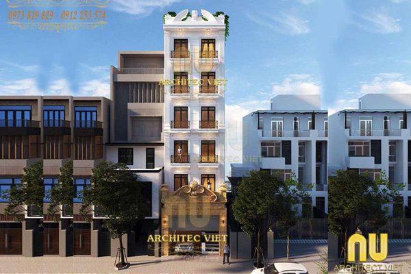 Mẫu nhà mặt phố 6 tầng vừa đẹp vừa sang được yêu thích nhất tại Hà Nội