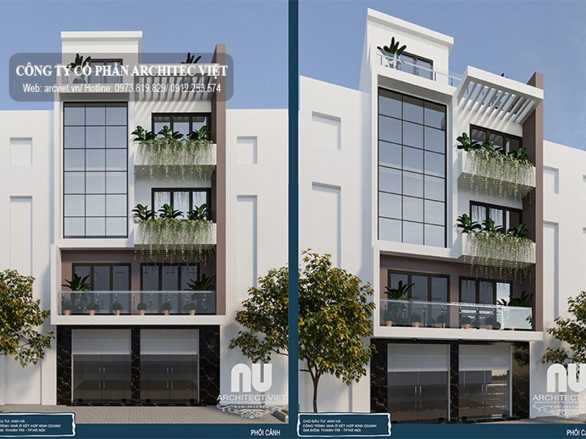 Chiêm ngưỡng mẫu nhà phố 5 tầng  mặt tiền 7m kết hợp kinh doanh