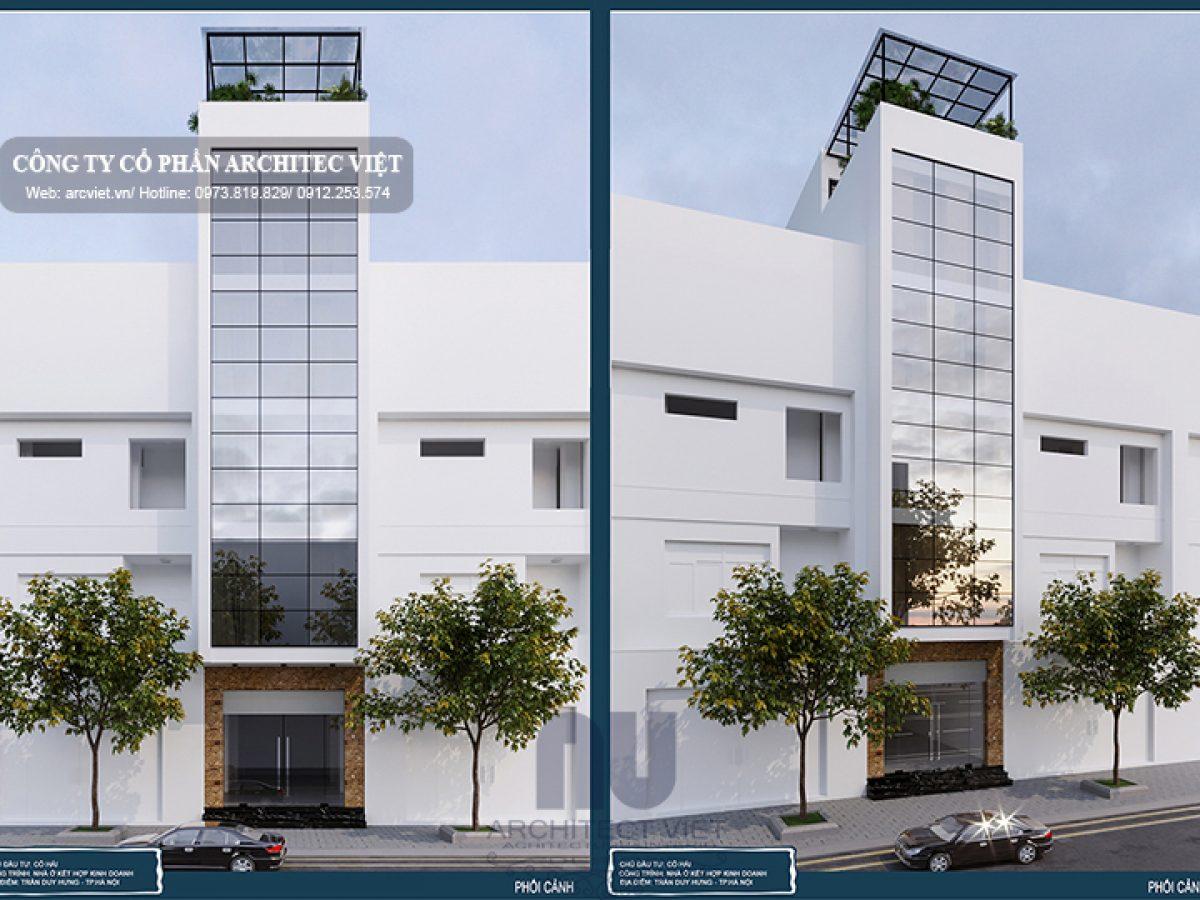 Mẫu thiết kế nhà phố 5 tầng 4x17m kết hợp kinh doanh