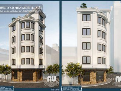 Thiết kế nhà ở 2 mặt tiền 45m2 kết hợp kinh doanh