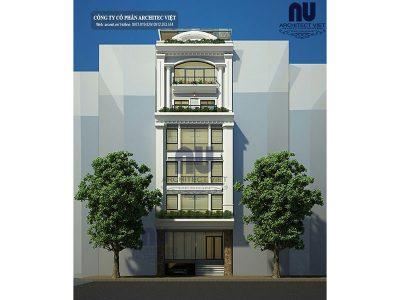 Thiết kế nhà ở 6 tầng kết hợp kinh doanh 8×14,5m