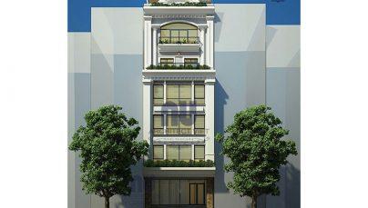 Thiết kế nhà ở 6 tầng kết hợp kinh doanh 8×14,5m hot nhất 2018