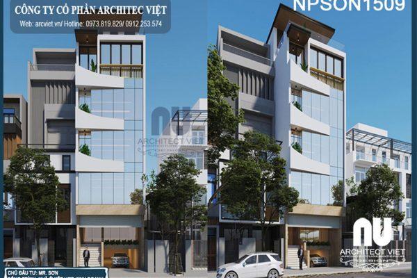 Mẫu thiết kế nhà ở kết hợp văn phòng 5 tầng 105m2 ấn tượng tại Hà Nội