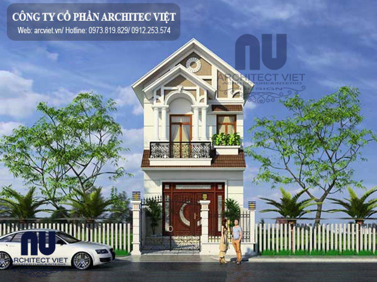 Ngắm nhìn mẫu thiết kế nhà phố 2 tầng 60m2