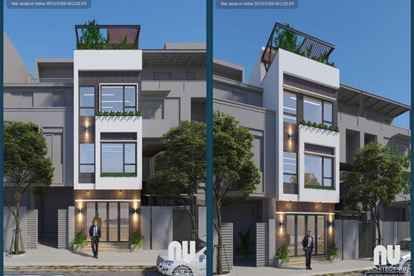 Mẫu nhà 3 tầng 40m2 hiện đại với chi phí thiết kế cực rẻ tại Arc Việt