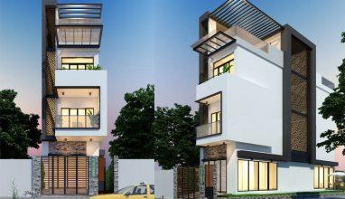 Tham khảo thiết kế nhà phố 3 tầng 90m2 hiện đại nổi bật nhất tại Nam Định