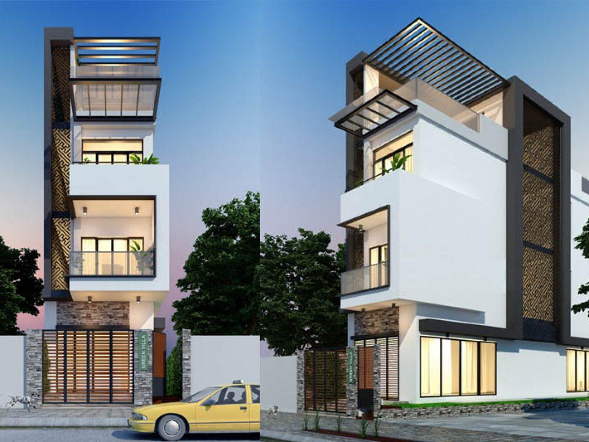 Tham khảo thiết kế nhà phố 3 tầng 90m2 phá cách kiến trúc