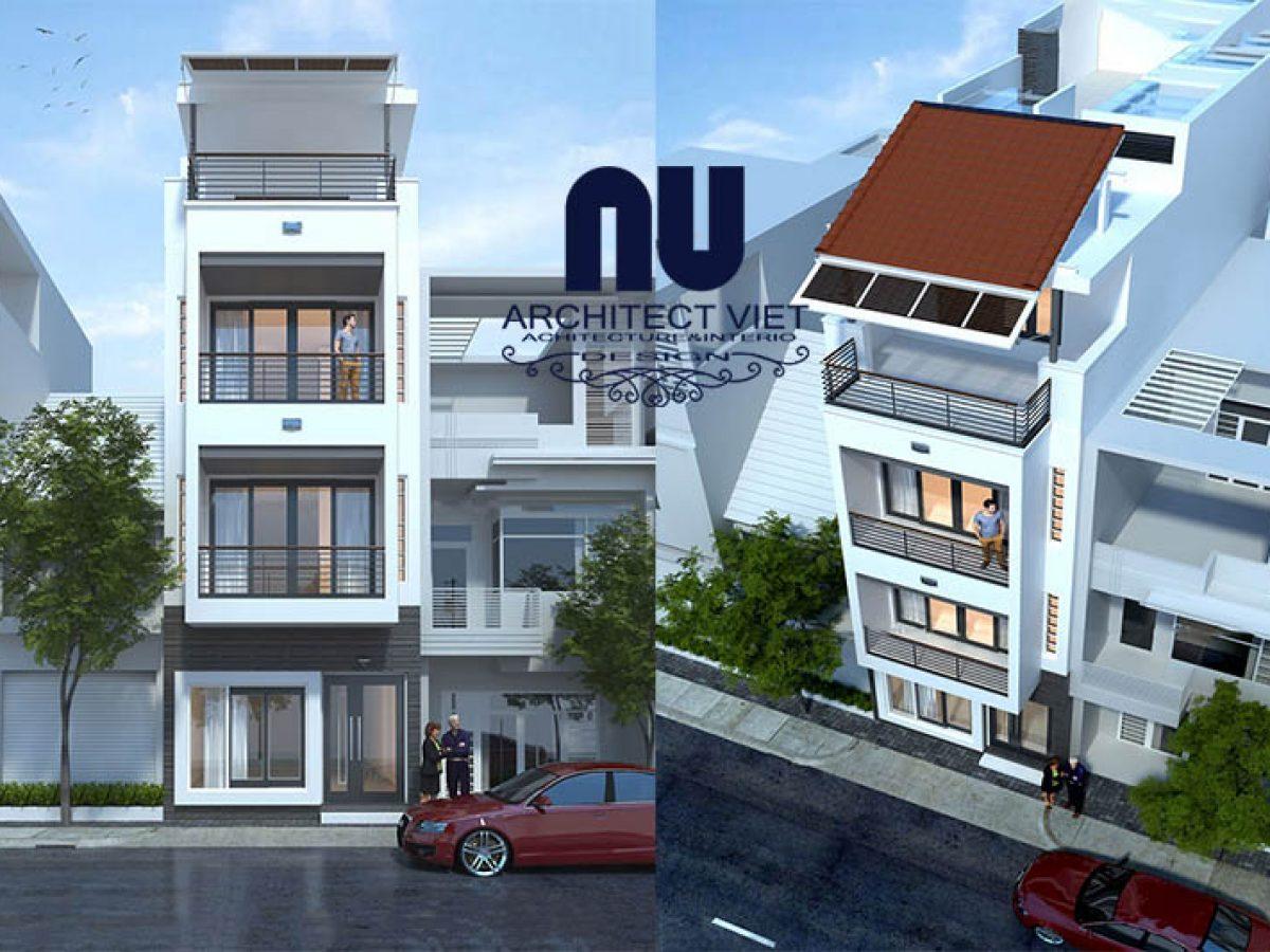Giới thiệu mẫu nhà phố 3 tầng 1 tum mặt tiền 5m đẹp