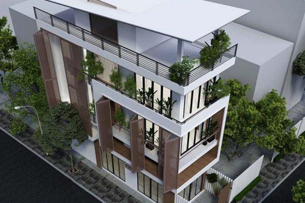Mẫu nhà phố 3 tầng 1 tum kết hợp kinh doanh