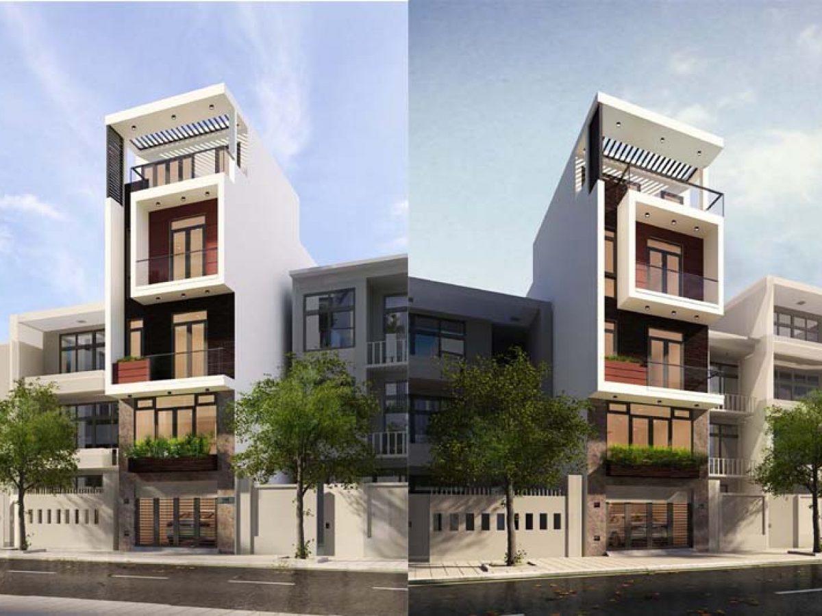 Kiến trúc hiện đại của nhà phố 4 tầng 50m2 có 4 phòng ngủ