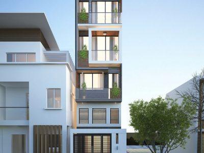 Ngắm nhìn nhà phố 4 tầng mặt tiền 3m