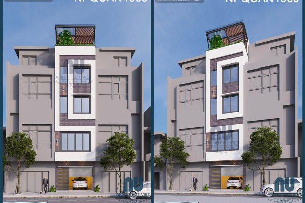 Tham khảo mẫu thiết kế nhà phố 4 tầng mặt tiền 4m 35m2 tiện nghi tại Hà Nội