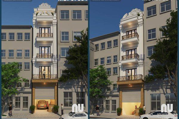 Siêu lòng với mẫu nhà phố 4 tầng mặt tiền 4m 50m2 tân cổ điển tại Hà Nội