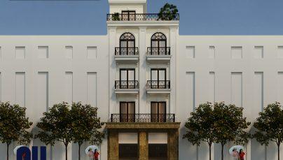 Không thể bỏ qua mẫu nhà phố 5 tầng 50m2 tân cổ điển hiện đại tại Hà Nội