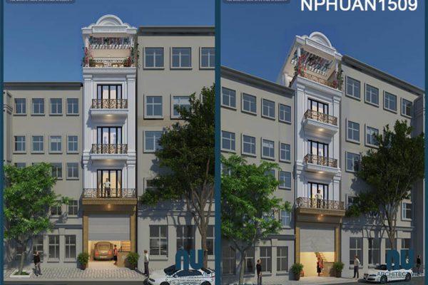 Mẫu nhà phố 5 tầng 50m2 kết hợp kinh doanh đẹp miễn chê ở ở Hà Nội