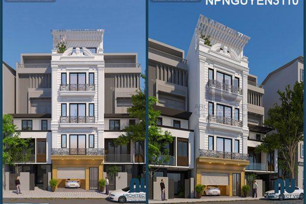 Mê mẩn mẫu nhà phố 5 tầng 50m2 tân cổ điển đẹp từng centimet