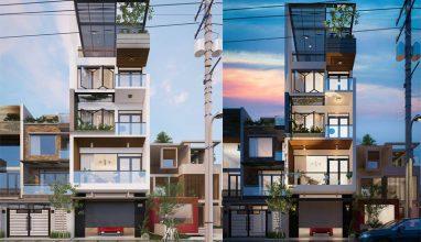 Giới thiệu mẫu nhà phố 5 tầng 65m2 hiện đại sang trọng thu hút mọi ánh nhìn