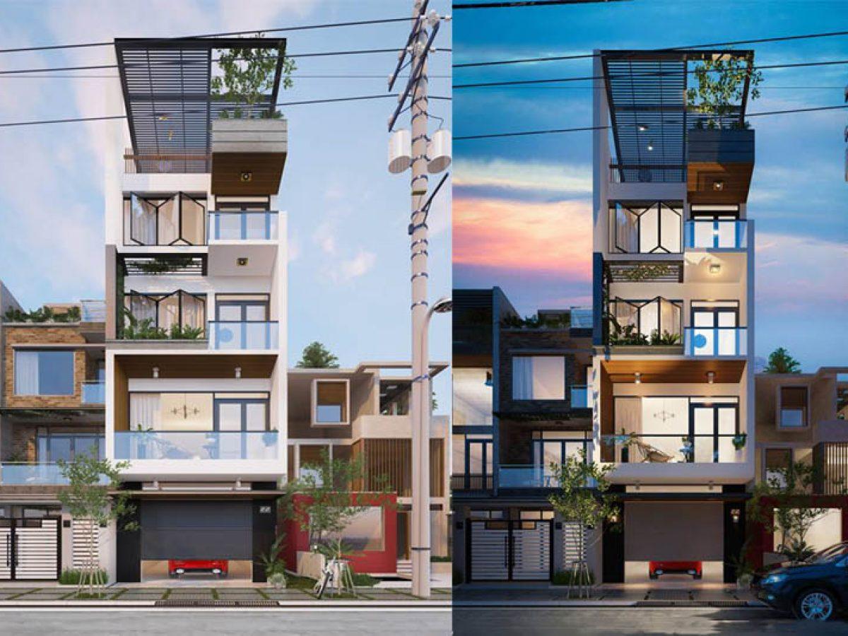 Giới thiệu mẫu nhà phố 5 tầng 65m2 thu hút mọi ánh nhìn