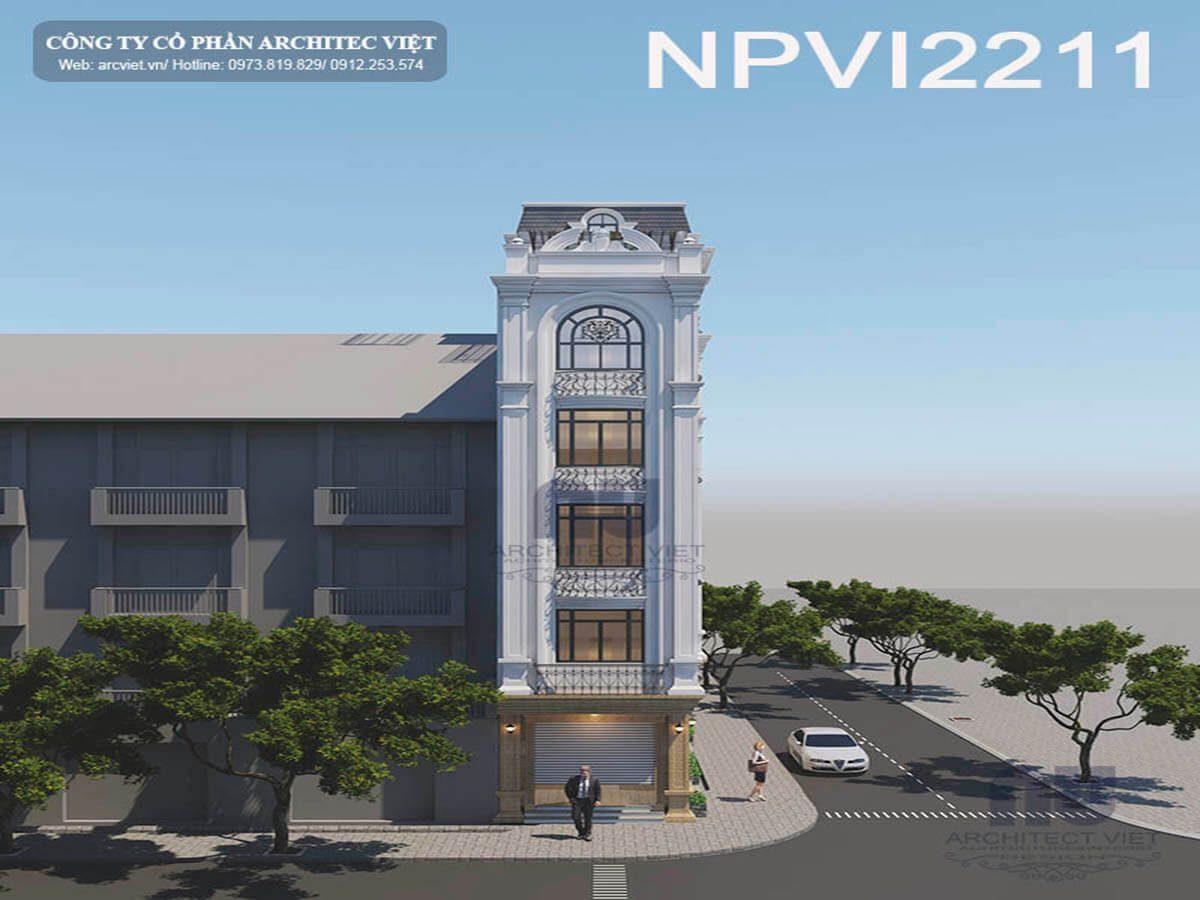 Bất ngờ với vẻ đẹp mỹ miều của mẫu nhà phố 5 tầng 70m2 kết hợp kinh doanh
