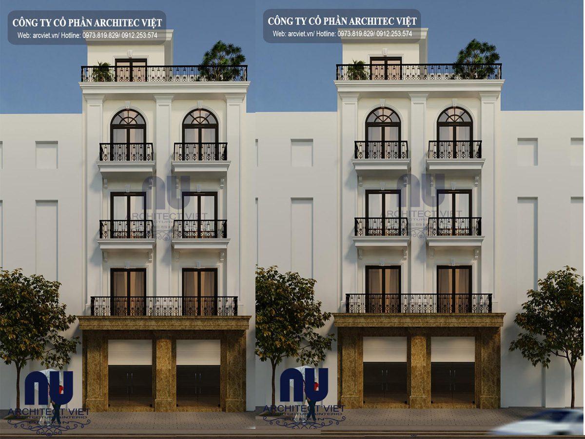 Không thể bỏ qua mẫu nhà phố 5 tầng 50m2 tân cổ