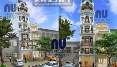 Mẫu thiết kế nhà phố 6,5 tầng phong cách tân cổ điển nổi bật ngay tại Hà Nội
