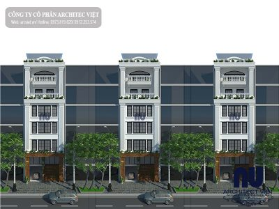 Thiết kế nhà phố 6 tầng 8×14,5m kết hợp kinh doanh