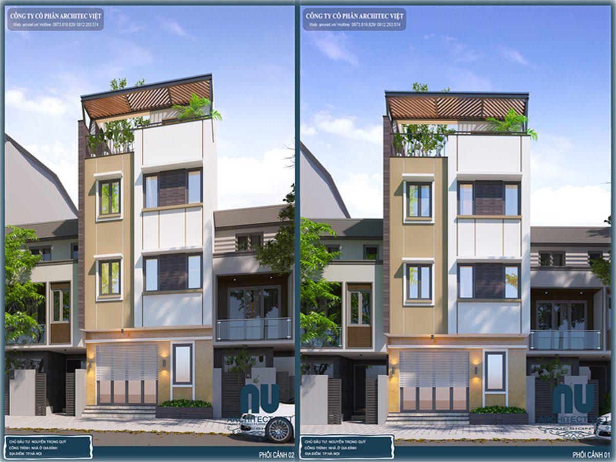 Vẻ đẹp hoàn mỹ của mẫu nhà phố hiện đại 3 tầng 40m2 ở Thanh Liệt