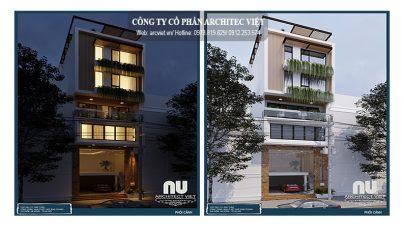 Thiết kế nhà phố kết hợp kinh doanh 7x10m theo phong cách hiện đại