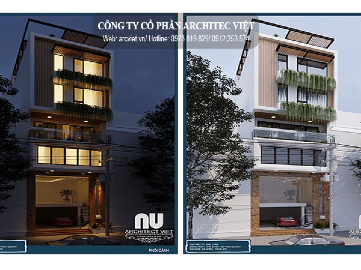 Thiết kế nhà phố kết hợp kinh doanh 7x10m