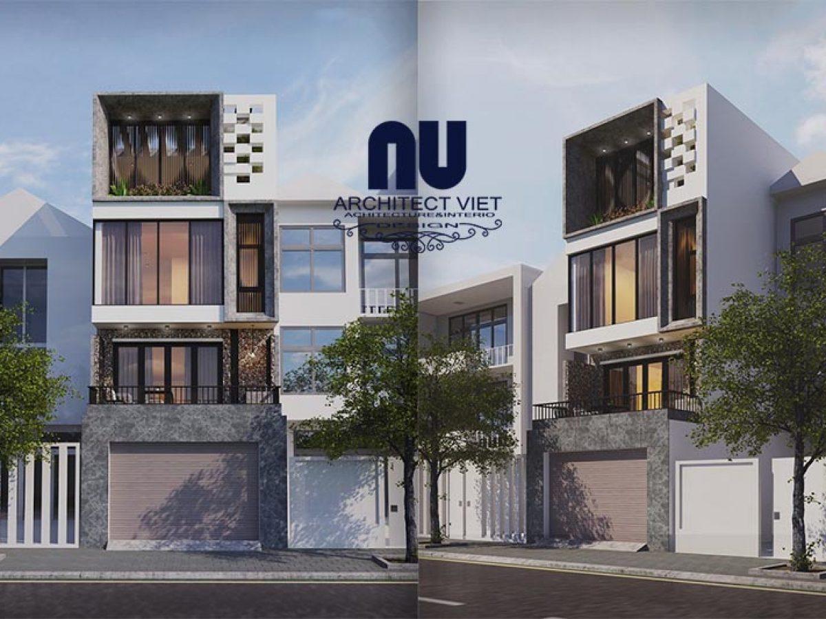 Hà Nội nổi bật với thiết kế nhà phố lệch 3 tầng 70m2
