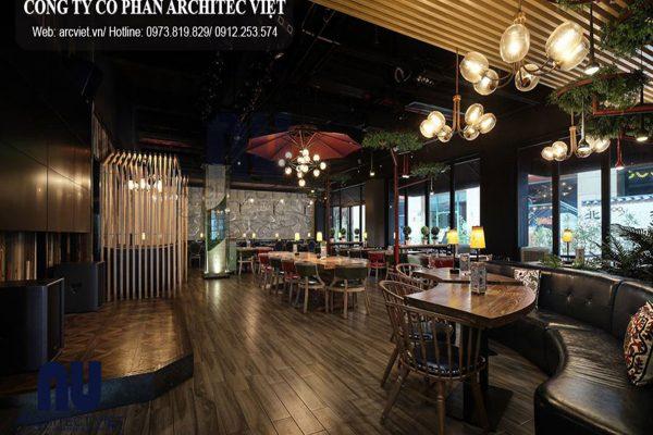 Ngắm nhìn toàn cảnh nội thất nhà hàng ăn nhanh đẳng cấp ở Nam Định