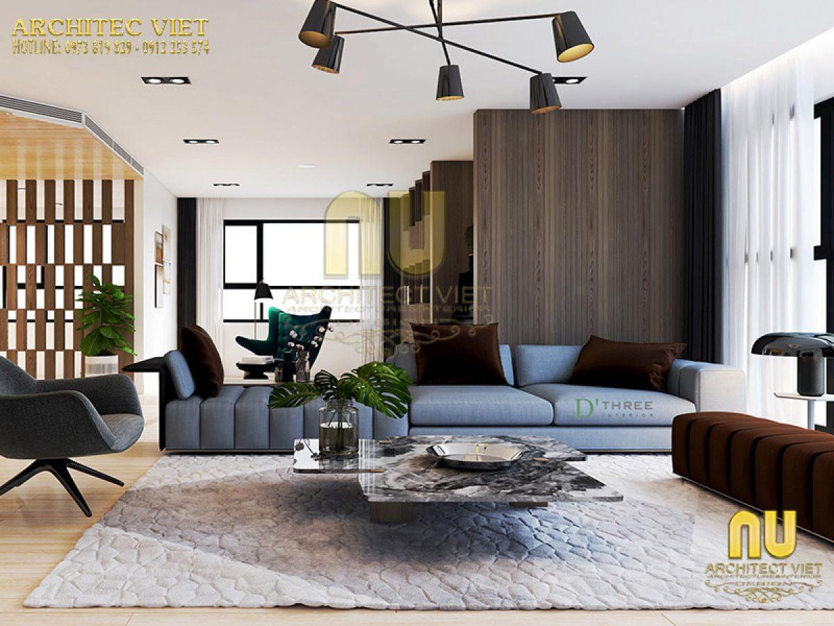 Thiết kế phòng khách hiện đại sang trọng cuốn hút mọi góc nhìn