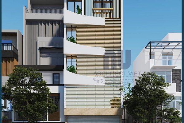 Mẫu thiết kế nhà ở kết hợp văn phòng 5 tầng 105m2 ấn tượng | Arc Việt