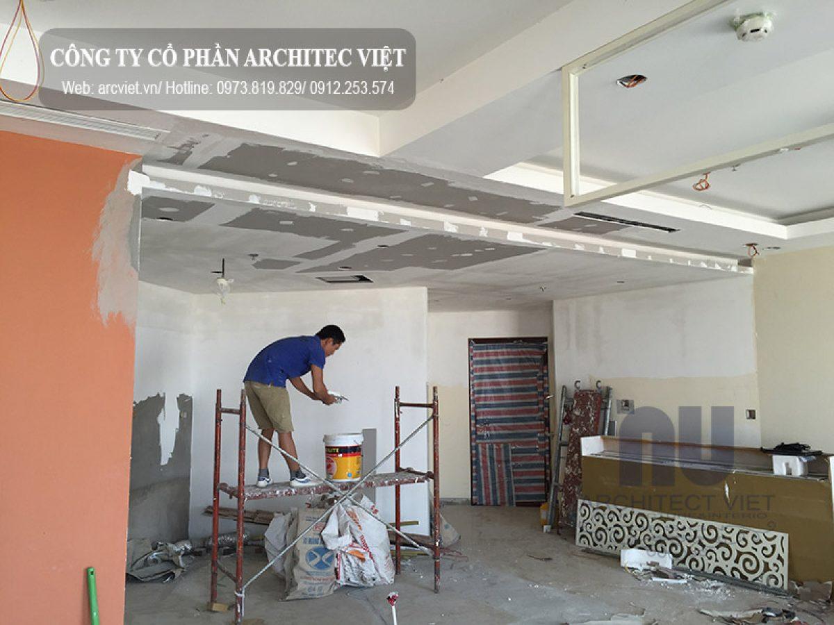 Quá trình thi công nội thất chung cư 150m2 của GĐ anh Linh ở Royal City