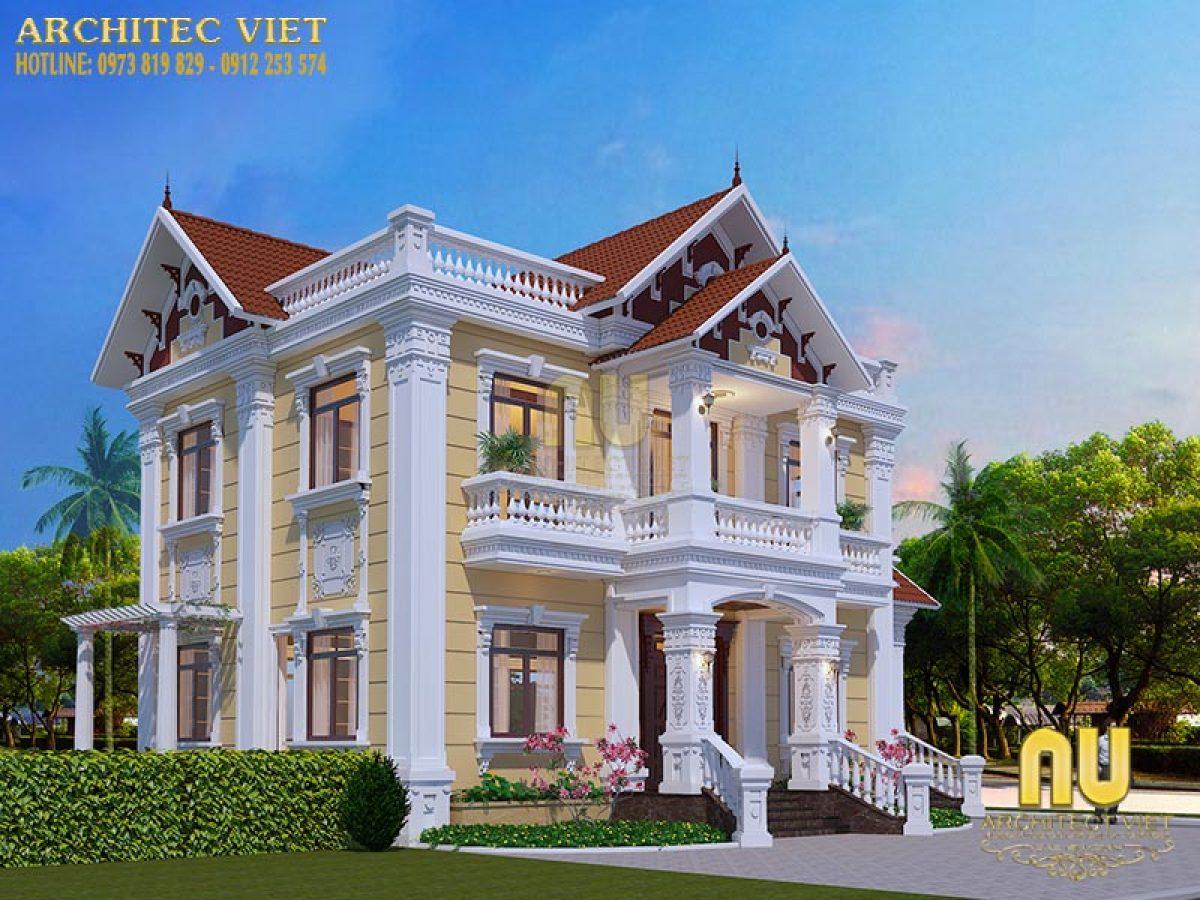 Thiết kế biệt thự 2 tầng – không gian sống lý tưởng cho gia đình nhỏ