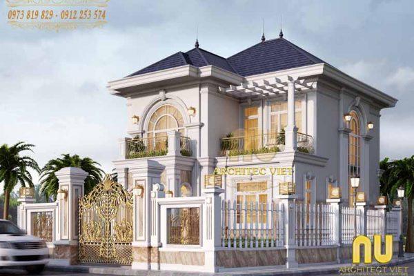 Thiết kế biệt thự cao cấp tân cổ điển 2 tầng 80m2 ở Chương Mỹ, Hà Nội